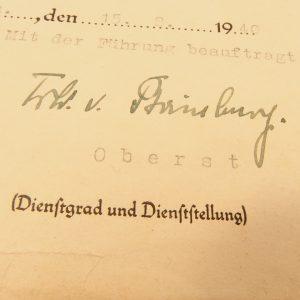 Urkunden Papiere, Ankauf Militärischer Urkunden Papiere, Militaria - Ankauf - Nord