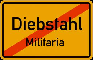 Diebstahl, Diebstahl Militaria, Militaria - Ankauf - Nord